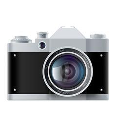analog film camera isolated on white background vector image