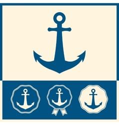 Anchor icon set vector image