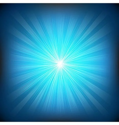 Blue burst and stars vector