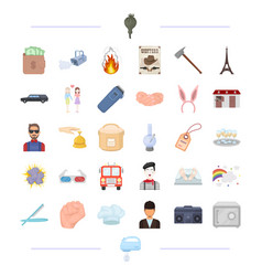 Hobbies business travel and other web icon in vector