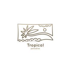 logo square tropic vector image