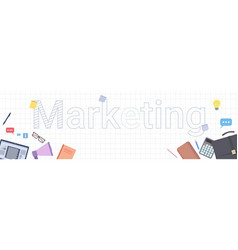 marketing word on squared background business vector image