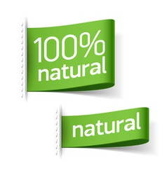 Natural product labels vector image vector image
