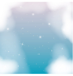 Nightly background with cloudy and starry night vector