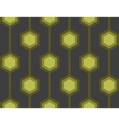 Retro Hexagons Green Seamless Tile vector image vector image