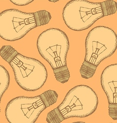 Sketch light bulb in vintage style vector image vector image