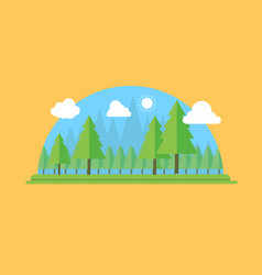 natural landscape in the flat style a beautiful vector image