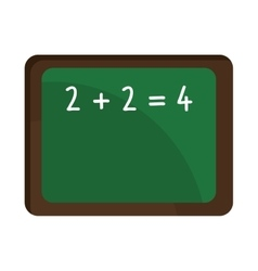 school green board with numbers graphic vector image vector image