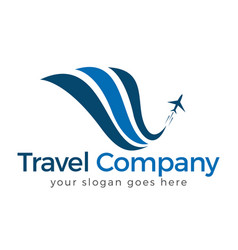 travel logo design vector image