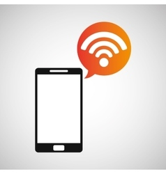 cellphone connection wifi multimedia icon vector image vector image