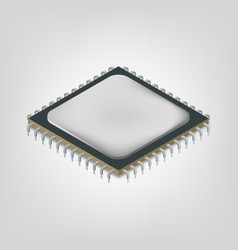 central processing unit is an isometric vector image vector image