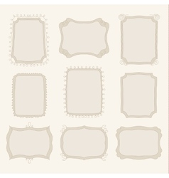 collection of hand drawn doodle frames vector image