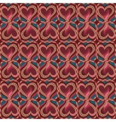 decorative ethnic love heart pattern seamless vector image
