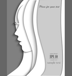 silhouette of girl vector image vector image
