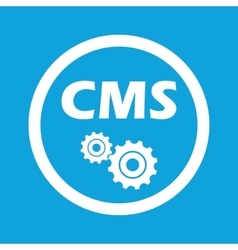 CMS settings sign icon vector image