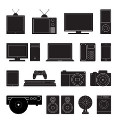 electronic technology icon set vector image vector image