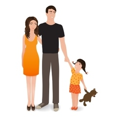 Happy family The smiling people isolated on a vector image vector image