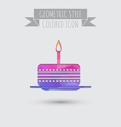 icon birthday cake symbol of cake Celebrating the vector image