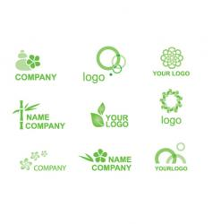 logos bamboo vector image vector image