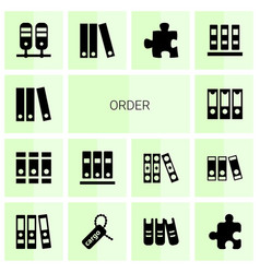 14 order icons vector image