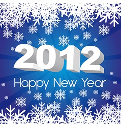 2012 new year blue background with snowflakes vector image