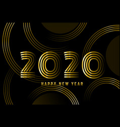 2020 happy new year abstract card design vector image