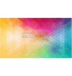 2d creative background with triangle and circle vector