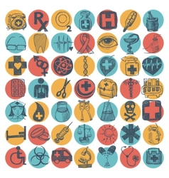 49 hand drawing doodle icon set medical theme vector image