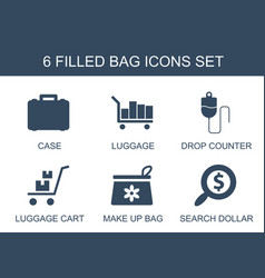 6 bag icons vector