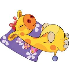 a soft toy giraffe vector image