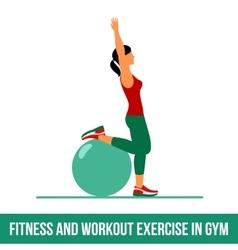 Aerobic icons Ball exercise vector image