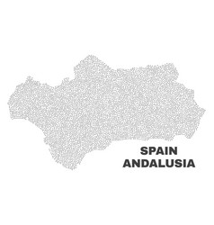 Andalusia province map of dots vector