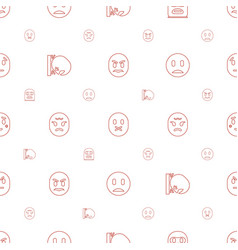 Angry icons pattern seamless white background vector