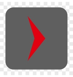 Arrowhead right rounded square button vector