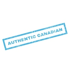 Authentic Canadian Rubber Stamp vector image