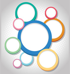 Background design with colorful circles vector