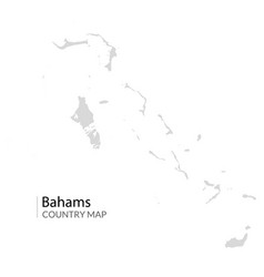 Bahams map nassau caribbean island country vector