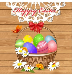 basket easter3 vector image