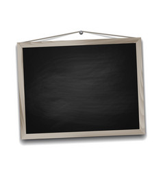 black chalkboard in wooden frame vector image