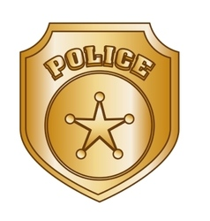 Bronze police badge icon image vector