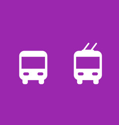 bus and trolleybus icons transport signs vector image