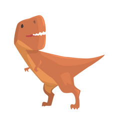 Cartoon allosaurus dinosaur character jurassic vector
