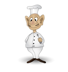 Chef with spoon vector