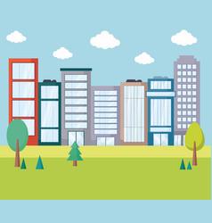 city urban landscape vector image