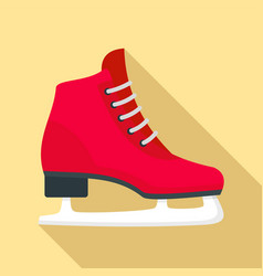 classic ice skate icon flat style vector image