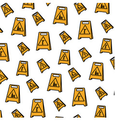 color plastic caution emblem to industry vector image