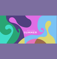 Colorful liquid and fluid background for summer vector