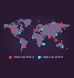 Communications network world map business vector
