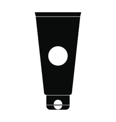 Cosmetic tube black simple icon vector image