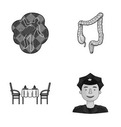 crime restaurant and other monochrome icon in vector image